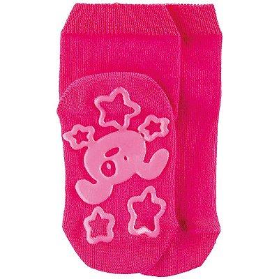 Meia Baby Antiderrapante Cachorrinho Pink - Lupo