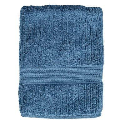 Toalha de Banho Canelada Fio Penteado - Azul Escuro - Buddemeyer