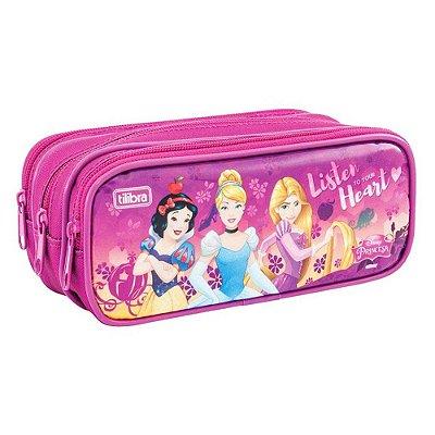 Estojo Triplo - Disney Princesas - Tilibra