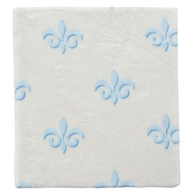 Cobertor Touch & Feel Glam - Branco e Azul - Colibri