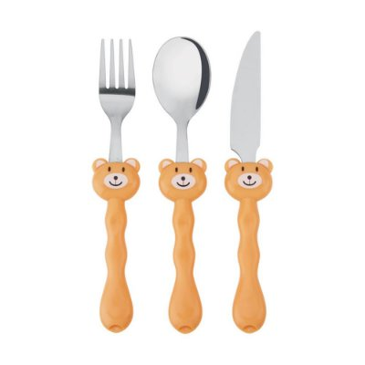 Conjunto de Talheres Infantil Urso - 3 Peças - Mek