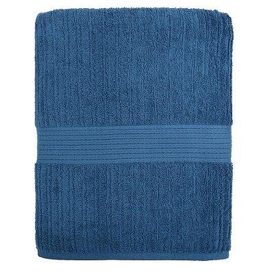Toalha de Banho Gigante Canelada Fio Penteado - Azul Royal 1275 - Buddemeyer