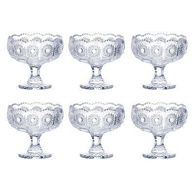 Jogo de Taças de Sobremesa Versailles - 6 Peças - L'Hermitage