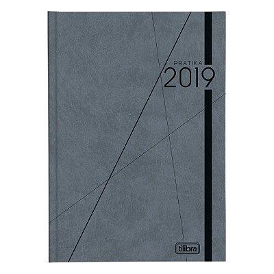 Agenda Diária Prátika Costurada 2019 - Cinza - Tilibra