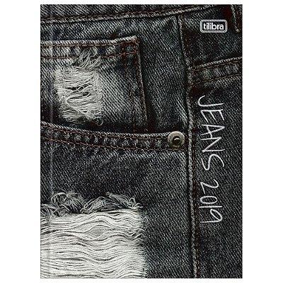 Agenda Diária Costurada Jeans 2019 - Rasgado - Tilibra