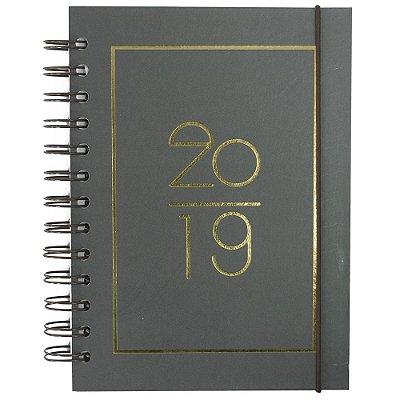Agenda Diária Basic 2019 - Cinza Escuro - Interponte