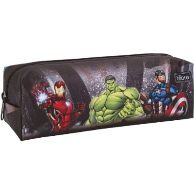 Estojo Avengers - Os Vingadores - Preto - Tilibra
