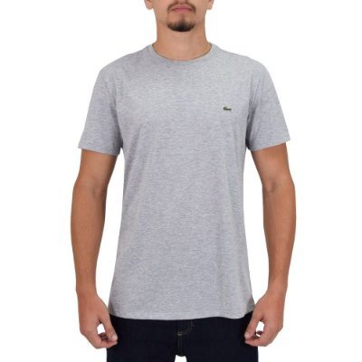Camiseta Masculina Básica Cinza - Lacoste