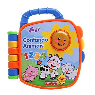 Livro Aprender e Brincar - Contando Animais - Fisher-Price
