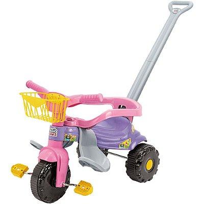 Triciclo Infantil Tico Tico Festa - Rosa - Magic Toys