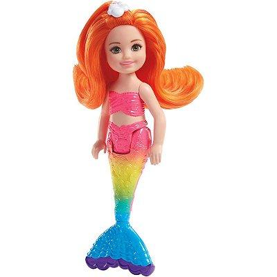 Boneca Barbie Dreamtopia Club Chelsea Sereia - Reino do Arco Íris - Mattel