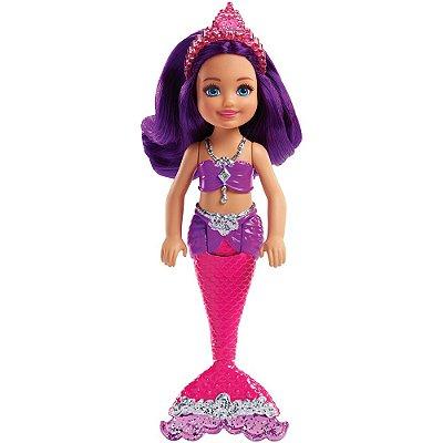 Boneca Barbie Dreamtopia Club Chelsea Sereia - Reino dos Diamantes - Mattel