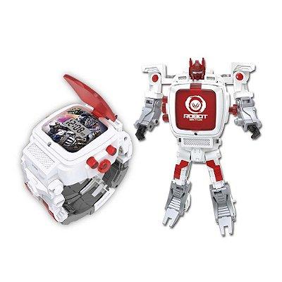 Robot Watch Branco - Relógio 2 em 1 - Multikids