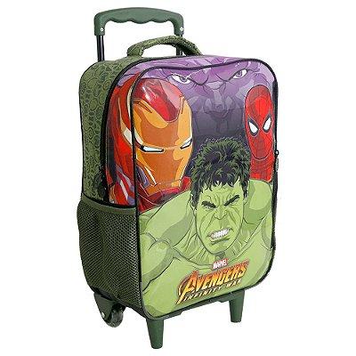 "Mochila de Carrinho 16"" Avengers Infinity War - Hulk - Xeryus"