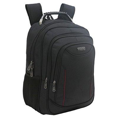 Mochila Para Notebook Over Route Com USB - Preta Basic - Xeryus