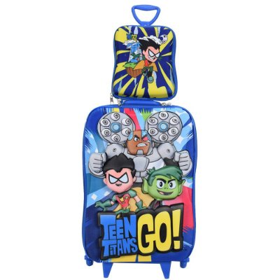 Kit Mochila Infantil 3D + Lancheira - Teen Titans Go! - Diplomata