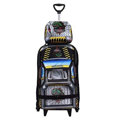 Kit Mochila Infantil 3D + Lancheira - Pickup King-Rex - Diplomata