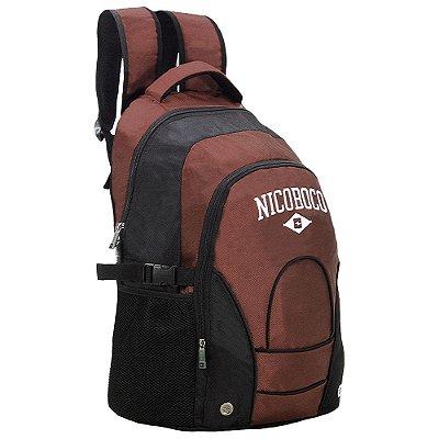 Mochila de Costas Para Notebook Nicoboco - Preto e Vinho - Xeryus