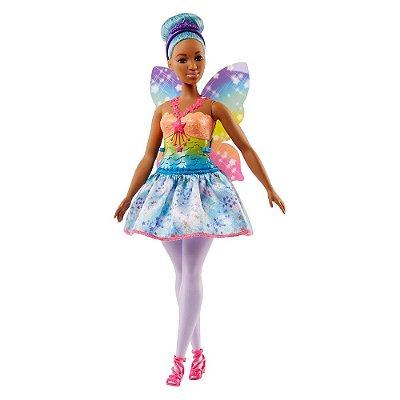 Boneca Barbie Dreamtopia Fada - Curvy Morena - Mattel