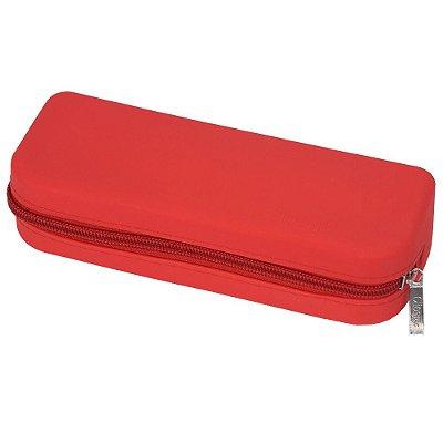 Estojo Reto de Silicone - Vermelho - Clio Style
