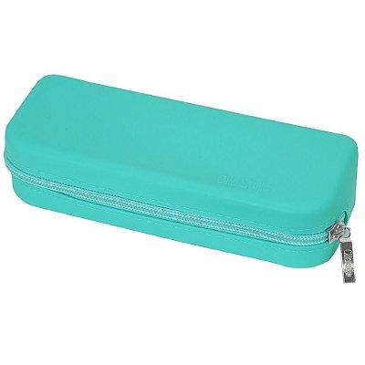 Estojo Reto de Silicone - Azul Turquesa - Clio Style