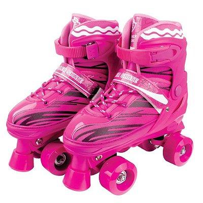 Patins Ajustável Roller Skate - Rosa - Fênix