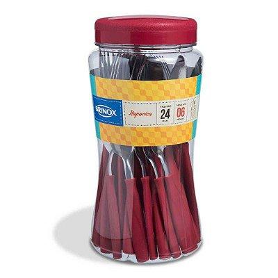 Faqueiro Itaparica Vermelho - 24 peças - Brinox