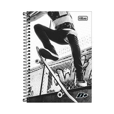 Caderno Espiral 1/4 D+ - Skate - 96 folhas - Tilibra