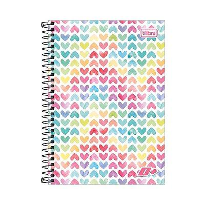 Caderno Espiral 1/4 D+ - Corações - 96 folhas - Tilibra