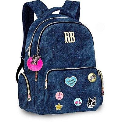 Mochila de Costas Para Notebook Rebecca Bonbon - Jeans - Clio Style