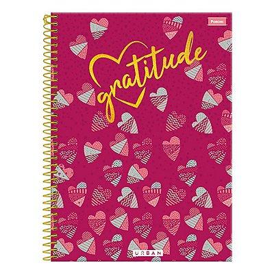 Caderno Urban - Gratitude - 1 Matéria - Foroni