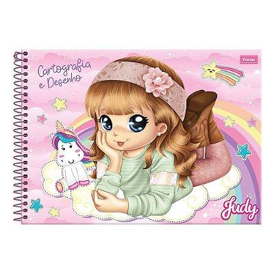 Caderno de Cartografia e Desenho Judy - Rosa - Foroni