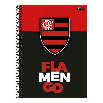Caderno Flamengo - Preto & Vermelho - 10 Matérias - Foroni