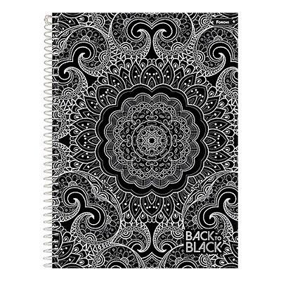 Caderno Back To Black - Mandala - 10 Matérias - Foroni