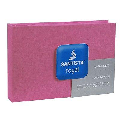 Lençol de Casal Royal Liso - Pink - Santista