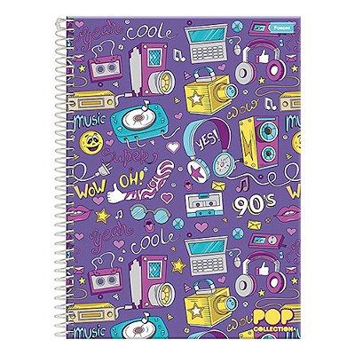 Caderno Pop Collection - Music 90's - 1 Matéria - Foroni