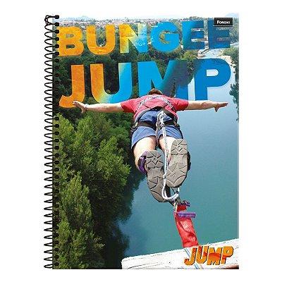 Caderno Jump - Bungee Jump - 1 Matéria - Foroni