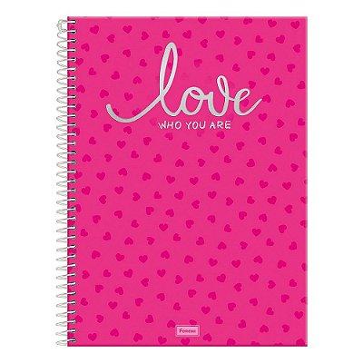 Caderno Yet! - Pink - 15 Matérias - Foroni