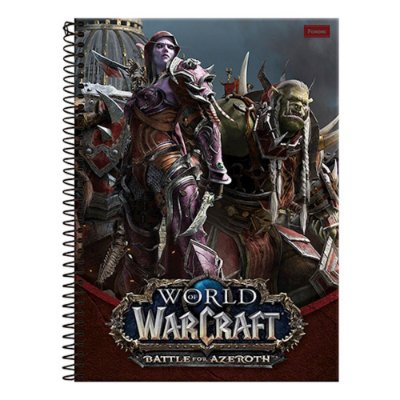 Caderno World Of Warcraft - Sylvana Correventos - 10 Matérias - Foroni