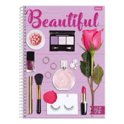 Caderno Like It - Beautiful - 10 Matérias - Foroni