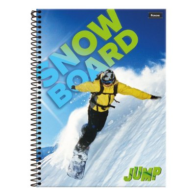 Caderno Jump - Manobra Snowboard - 10 Matérias - Foroni