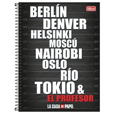 Caderno La Casa de Papel - Nomes - 10 matérias - Tilibra