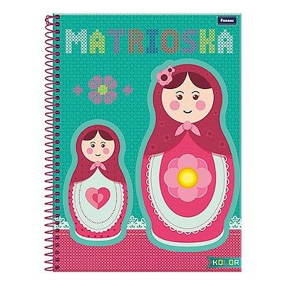 Caderno Kolor - Matrioska - 10 Matérias - Foroni
