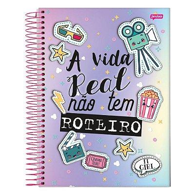 Caderno It Girl - A Vida Real - 1 Matéria - Jandaia
