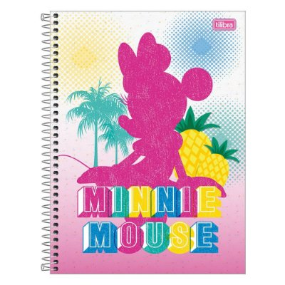 Caderno Minnie Fashion - Tropical - 1 matéria - Tilibra