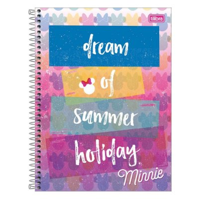 Caderno Minnie Fashion - Colors - 1 matéria - Tilibra