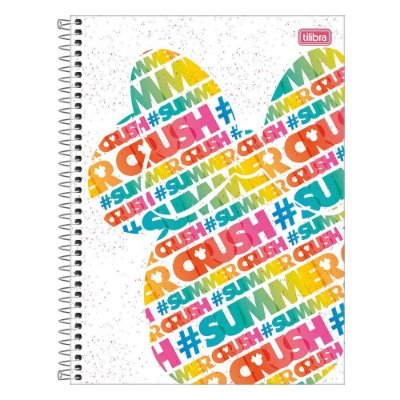 Caderno Minnie Fashion - Summer - 1 matéria - Tilibra