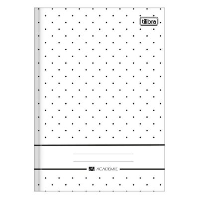 Caderno Brochura Académie - Branco - 96 Folhas - Tilibra