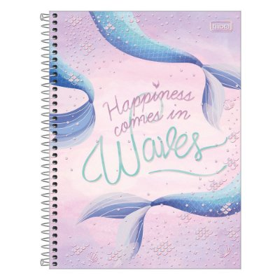 Caderno Wonder - Happiness Comes In Waves - 256 Folhas - Tilibra