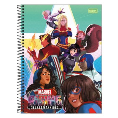 Caderno Rising Secret Warriors - Turma - 1 Matéria - Tilibra